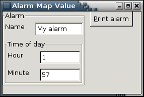 Alarm Specialized by mapValue