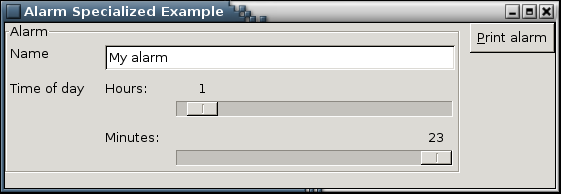 Alarm Specialized Example